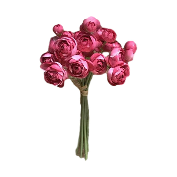 Faux Hot Pink Flower Bundle