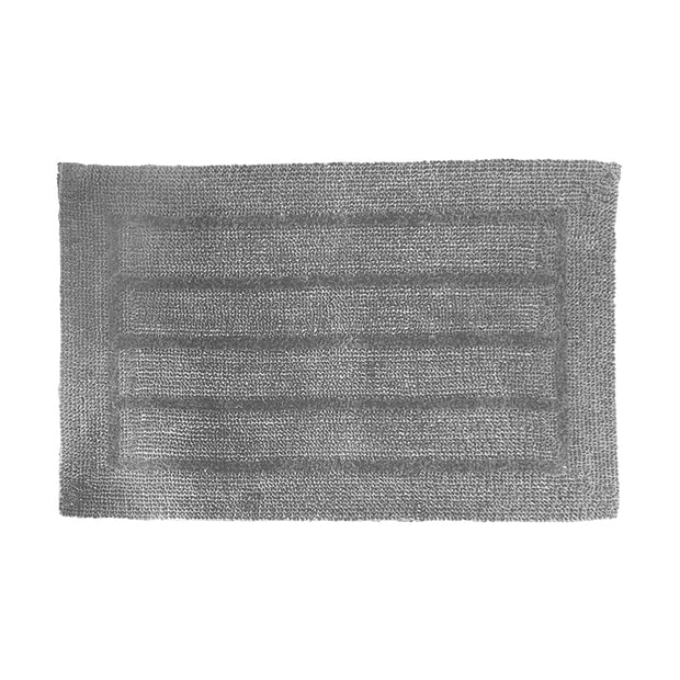 Reversible Luxe Grey Bath Mat
