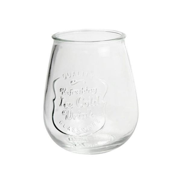 Retroware Stemless Drinking Glasses - Set of 4