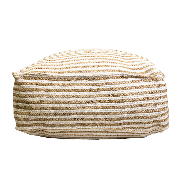 Braided Jute Pouf
