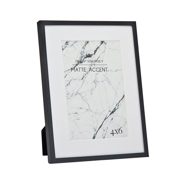 4x6 Thin Matte Black Picture Frame