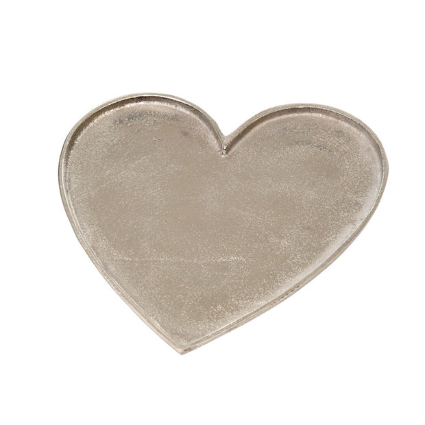 Large Silver Heart Tray
