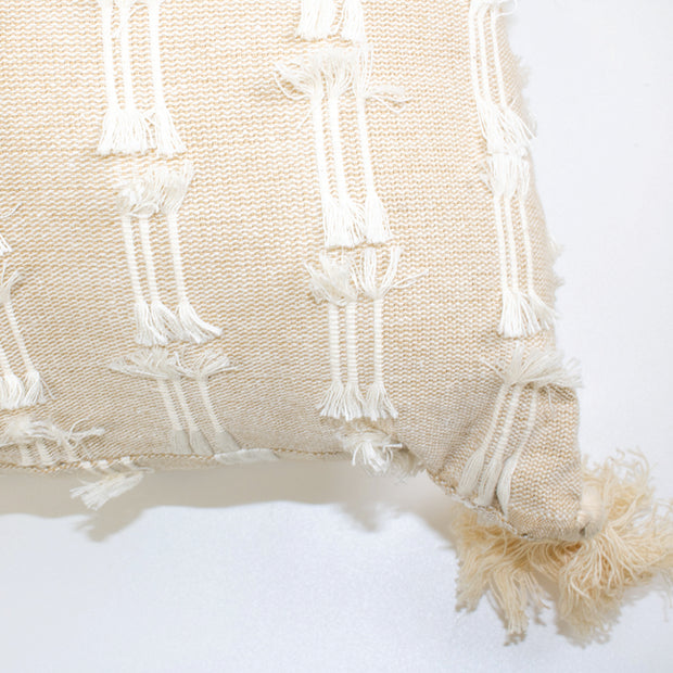 Multi Fringe Pillow with Tassels