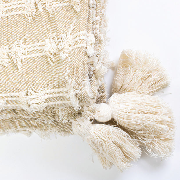 Multi Fringe Throw with Tassels