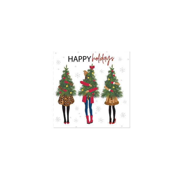 Holiday Girl Cocktail Napkins - Set of 20