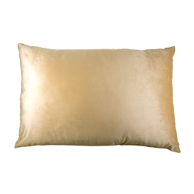 Lumbar Gold Velvet Pillow