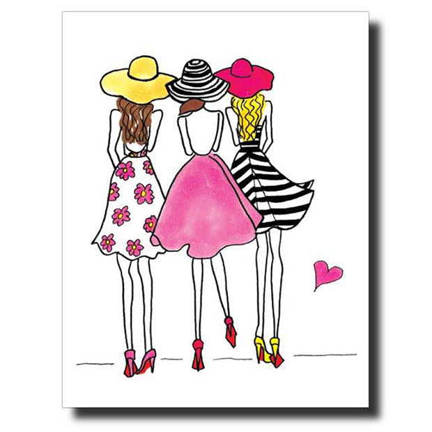 3 Party Girls Greeting Card
