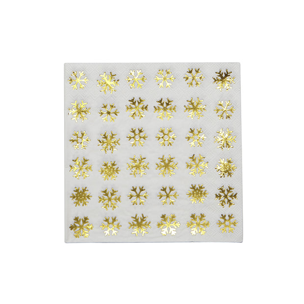 Holiday Snowflake Luncheon Napkins - Set of 20