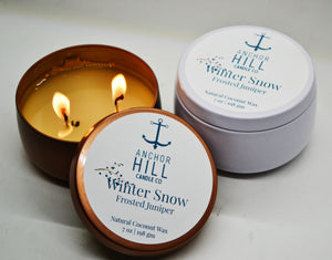 """Winter Snow"" Coconut Wax Candle"