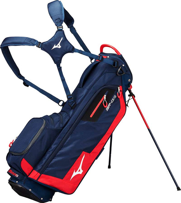 Mizuno BR-D3 Stand Bag - Navy / Red