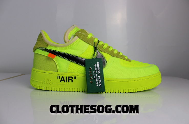 Off White x Nike Air Force 1 In Volt