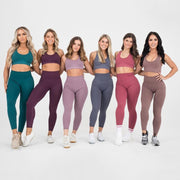 Yoga Sets Women's 2 Piece Set Leggings + Elastic Sports Bras Woman Gym Clothing Fitness Sportswear Workout Seamless Sports Suits