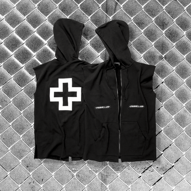 01 Sleeveless Lite 2-Way Zip Hoodie Release