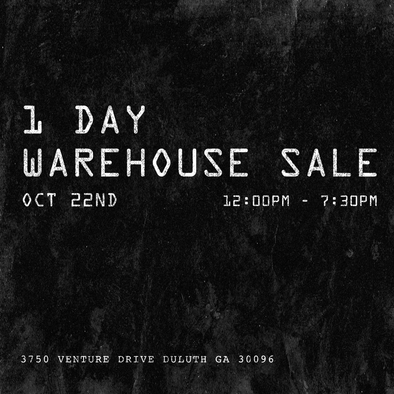 Warehouse Sale, 1 Day Only!