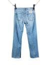 "1 of 1 ""FUKK"" DEEP SEA BLUE DENIM STRAIT LEG - +FRESH.i.AM+"