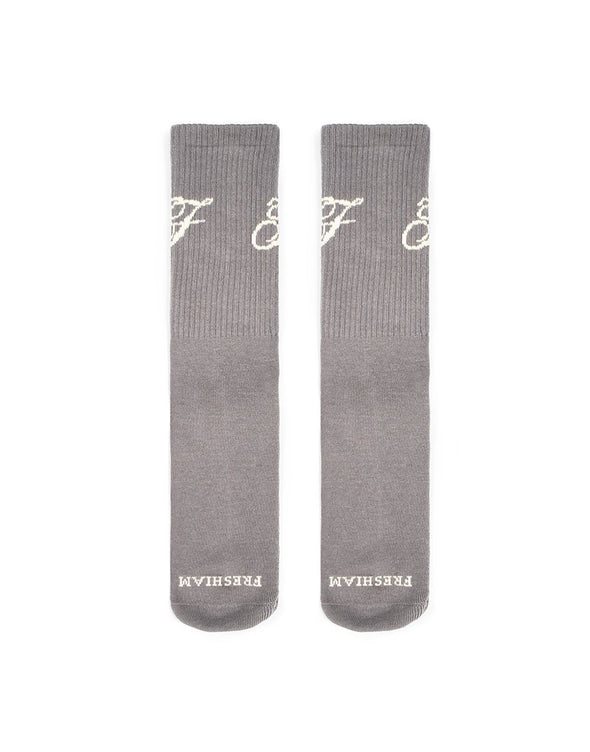'F' Sock Grey + freshiam