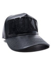 "Leather Black ""FUKK"" Hat + freshiam"