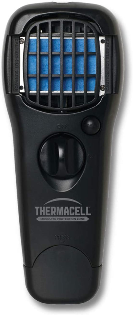 Thermacell MR150 Portable Mosquito Repeller, Black; DEET-Free, Scent-Free, Mess-Free Mosquito Repellent; 15 Foot Protection Zone with Fuel Cartridge and 3 Repellent Mats Provides 12 Hours of Relief (MR-LJ)