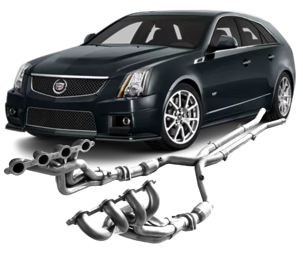 2009 - 2015 Cadillac CTS-V V2 Headers & Exhaust System components