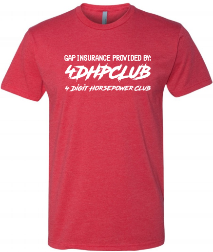 4DHPClub T-shirt - Gap insurance provided by: