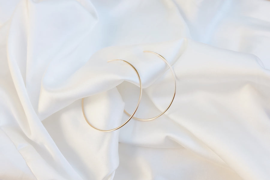 Thin Endless Large Hoops