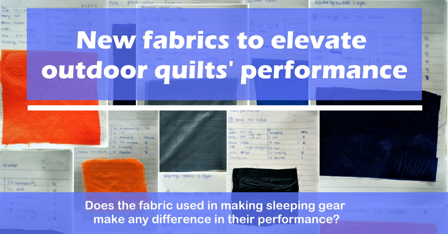 Blue Bolt introduces two new 10D fabrics - that improve performance of sleeping bags