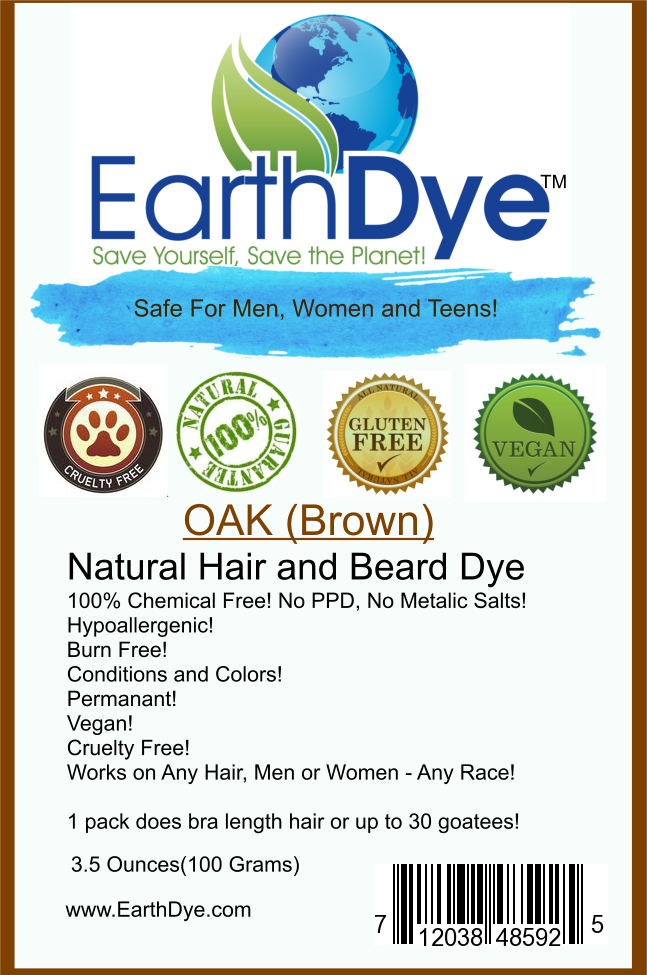 EarthDye Brown Henna Hair Dye