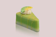 Load image into Gallery viewer, Lemon Lime Pie Slice Soap