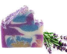 Load image into Gallery viewer, Calming Lavender Shea Butter Bar Soap