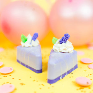 Sweet Lavender Grape Pie Slice Soap