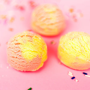 Fresh Peach & Lemon Bubble Bath Scoops (3)