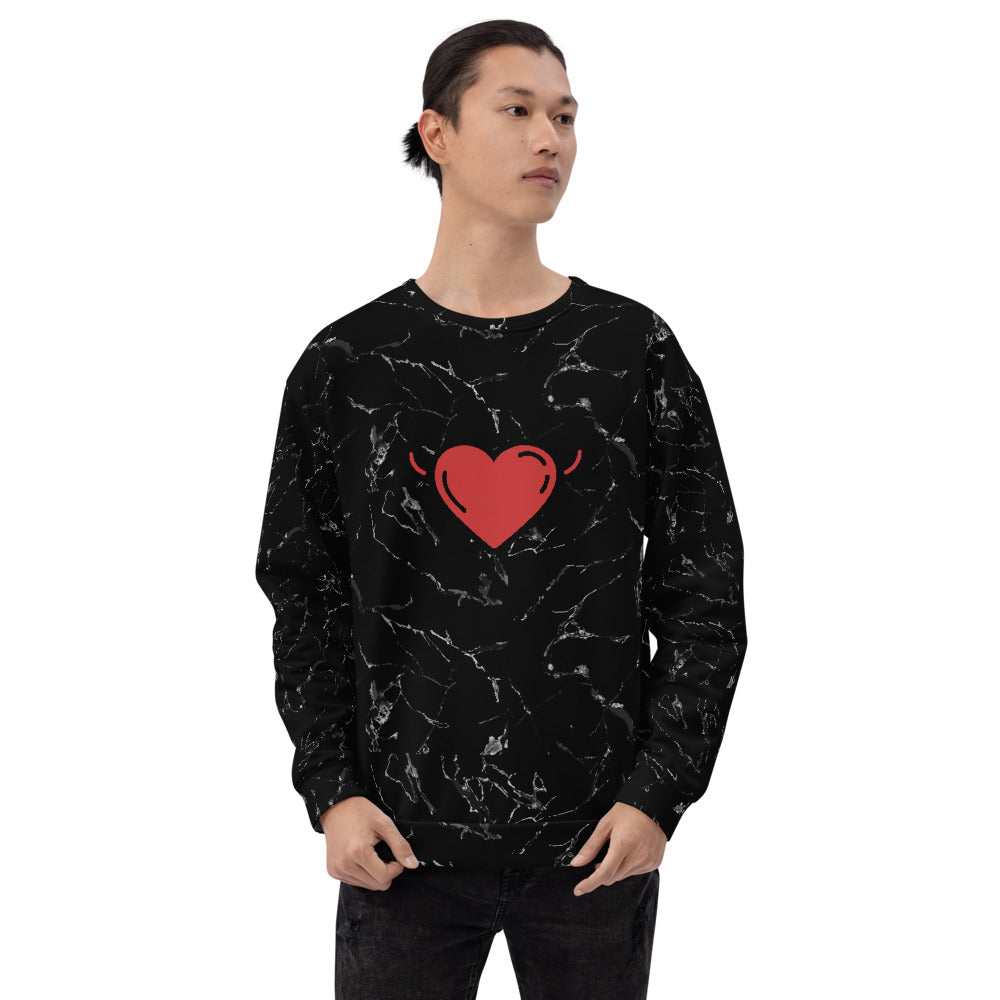 Ripped Heart Sweatshirt