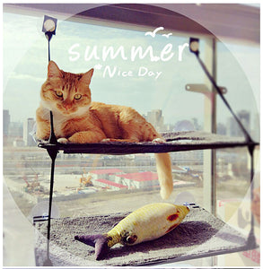 Cat Lounger Cat Hammock Bed Mount Window Cat Lounger Suction Cups Warm Bed For Pet Cat Rest House Soft Comfortable Bed