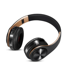 Gold Bluetooth Headphones Wireless Stereo Headsets earbuds with Mic /TF Card - Hush Hobbies