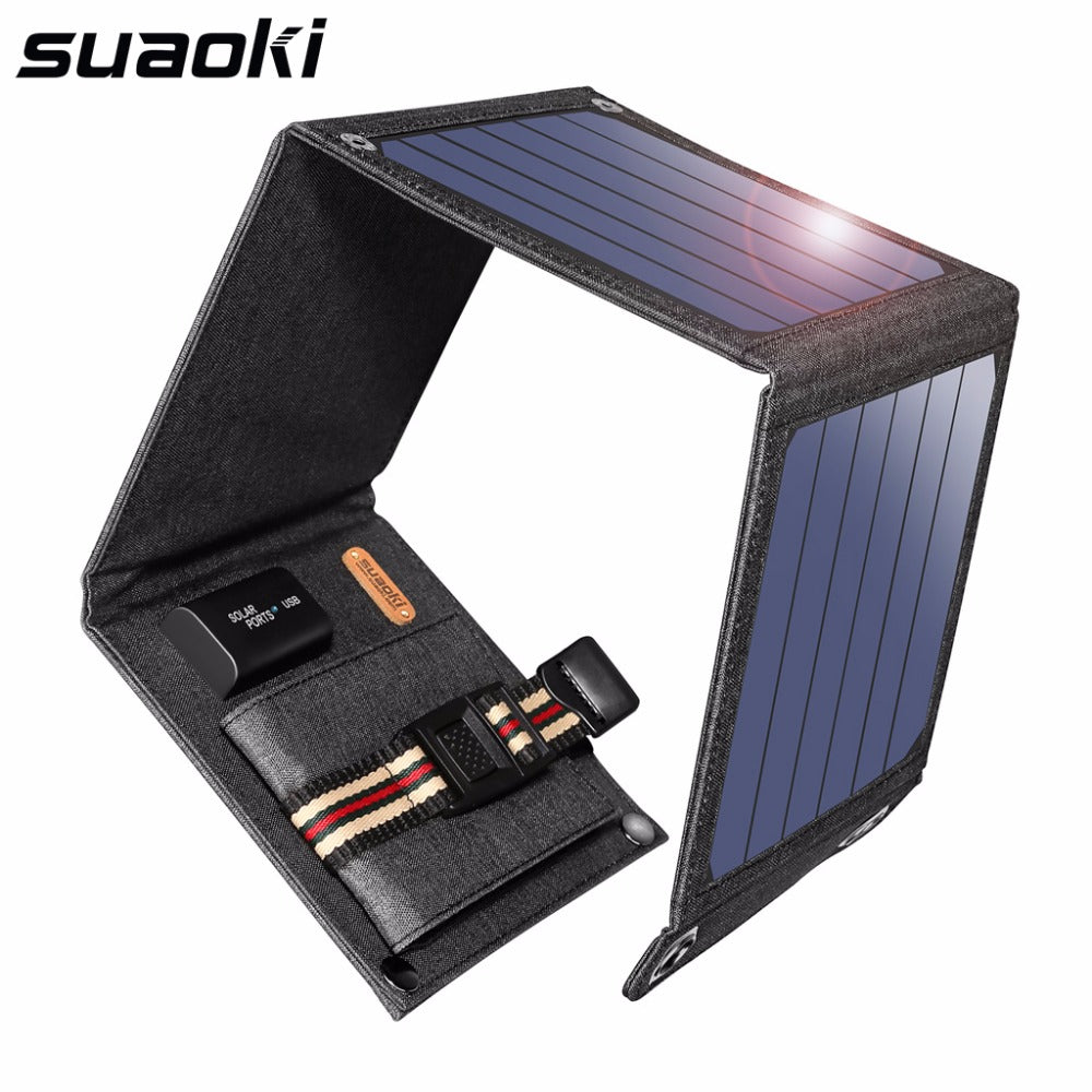 SunPower 14W Solar Cells Charger 5V 2.1A USB Output Devices Portable Solar Panels for Smartphones Laptop