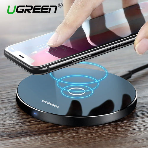 Ugreen Wireless Charger for iPhone X 8 Plus 10W Wireless Charging for Samsung Galaxy S8 S9 S7 Edge Qi USB Wireless Charger Pad