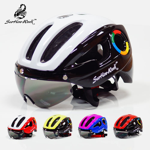Ultralight EPS Bicycle Helmet Lenses Goggle Cycling Equipment