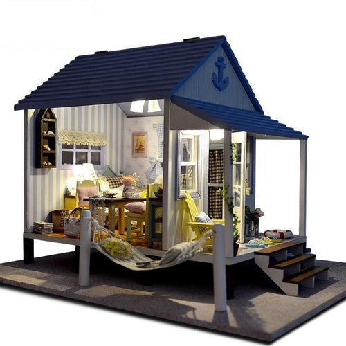 Miniature Home Decoration Crafts DIY Doll House with LED Lights A-017