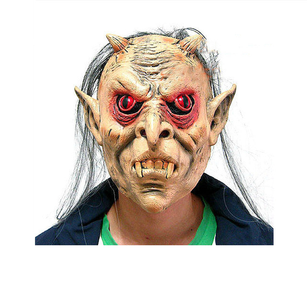halloween party costumes scary latex mask