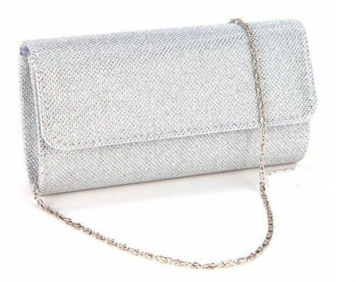 Women Satin Rhinestone Evening Clutch Bag Ladies Day Clutch Purse Chain Handbag Bridal Wedding Lady Party Bag Bolsa Mujer Silver