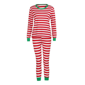 Women Striped Pajamas Set