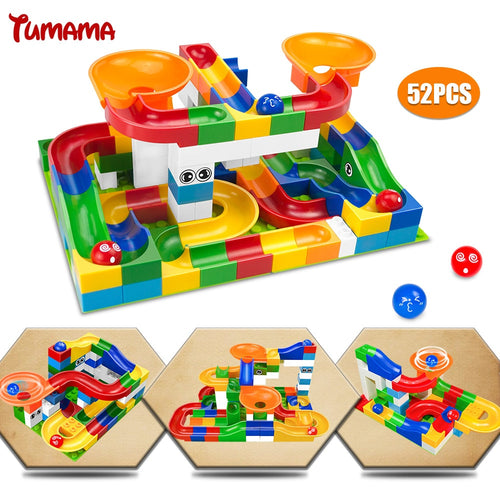 52Pcs Construction Marble Race Run Maze Balls - Hush Hobbies