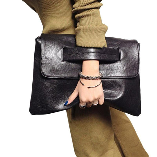 Envelope Clutch Bag Leather