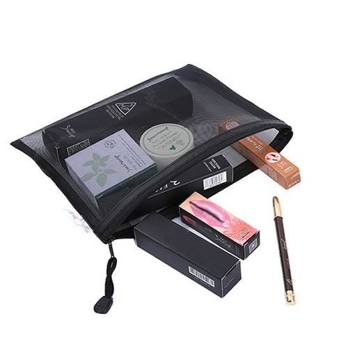 Casual Travel Cosmetic Bag Women Zipper Make Up Transparent