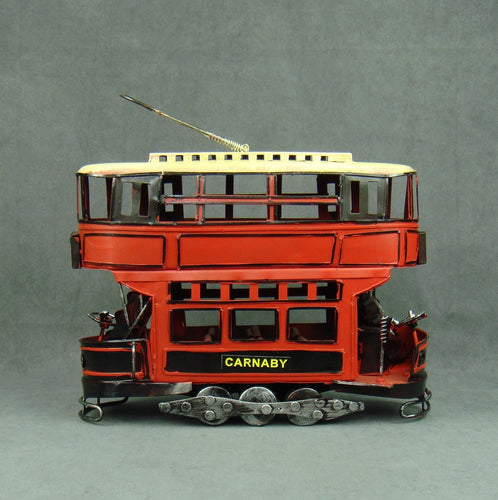 Iron Double Deck Trolley Bus Model