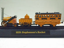 A MER 1:76 1829:Stephenson, Rocket Alloy Train Model