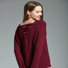 Autumn Back Strap Sweater