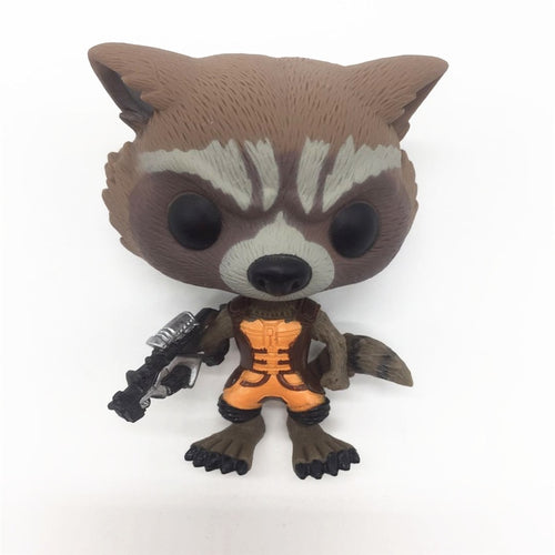 FUNKO POP! 1pcs First Edition Official Marvel Guardians of the Galaxy Rocket Raccoon