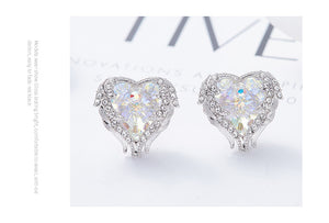 Heart Shape Crystal Earrings