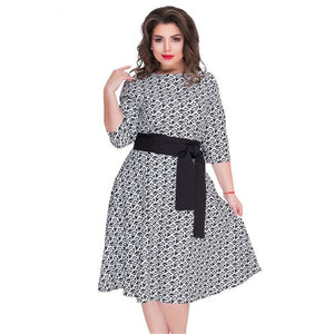 Plus Size Elegant A Line Fashion Female Party Dresses